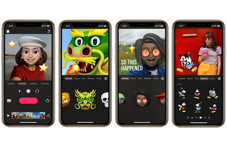 Apple 'Clips' iOS App Updated With Animojis, Memojis, Mickey Mouse and More