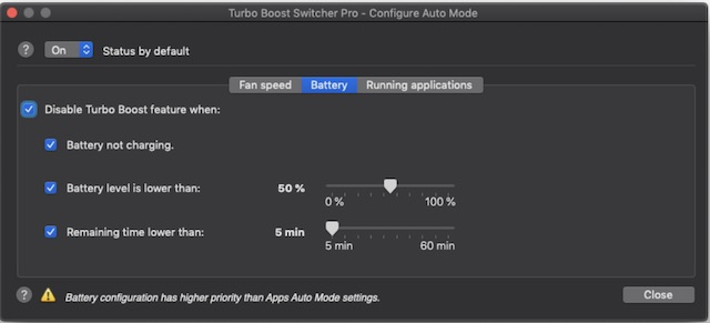 Customize Turbo Boost Switcher Pro