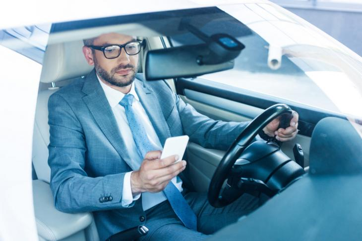 Driving Smartphone Car shutterstock website