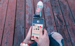 Facebook phone shutterstock website