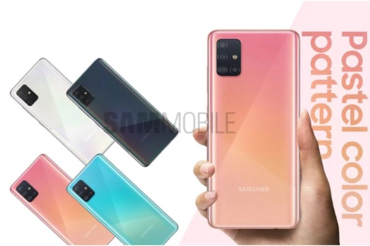 Galaxy A51 camera specs and pastel colors