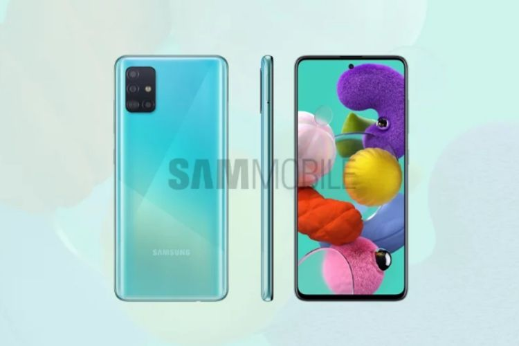 Galaxy A51 design and display