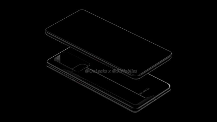 Huawei P40, P40 Pro Renders Appear Online with Curved Display, Huge Camera Bump