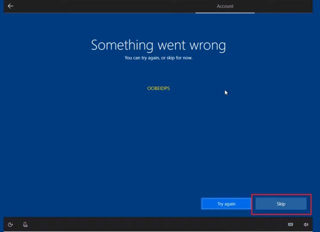 Создание локальной учетной записи в Windows 10 во время установки
