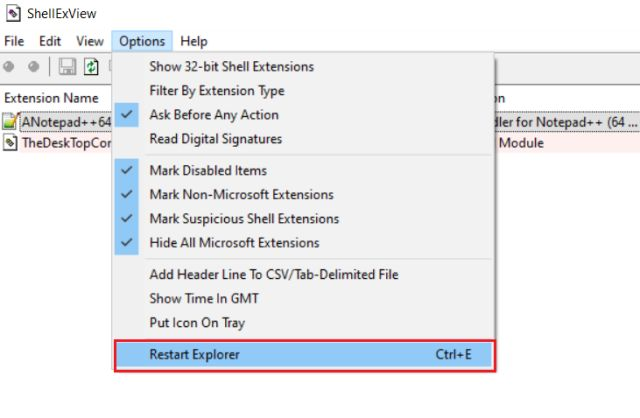 Customize the Right-click Menu on Windows 10 with ShellExView