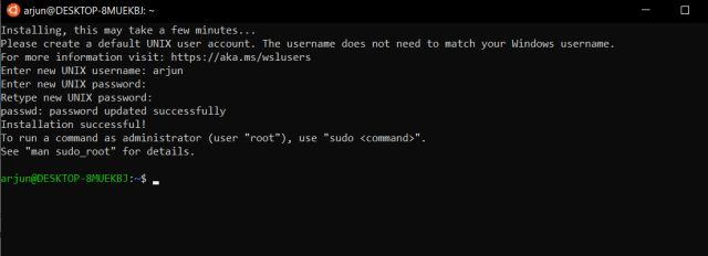 Enable the Linux Bash Shell on Windows 10
