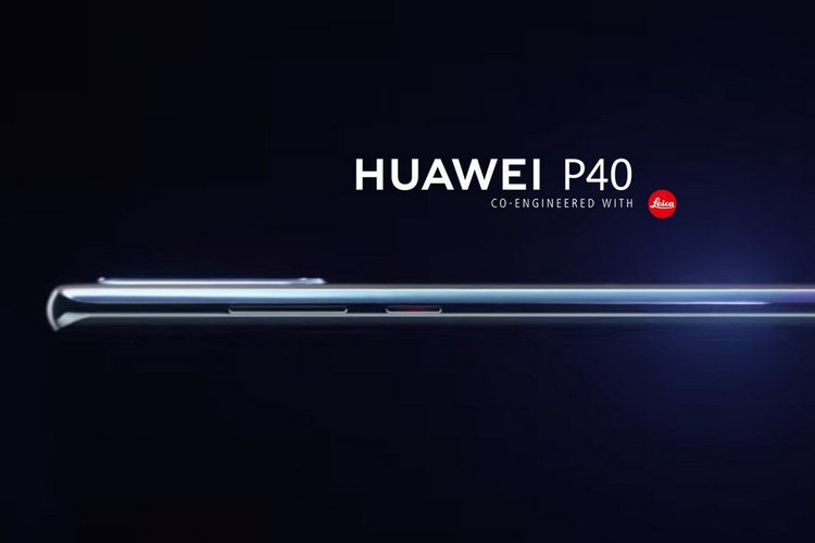 Huawei P40 leaked render website