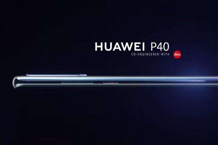 Huawei P40 leaked render website
