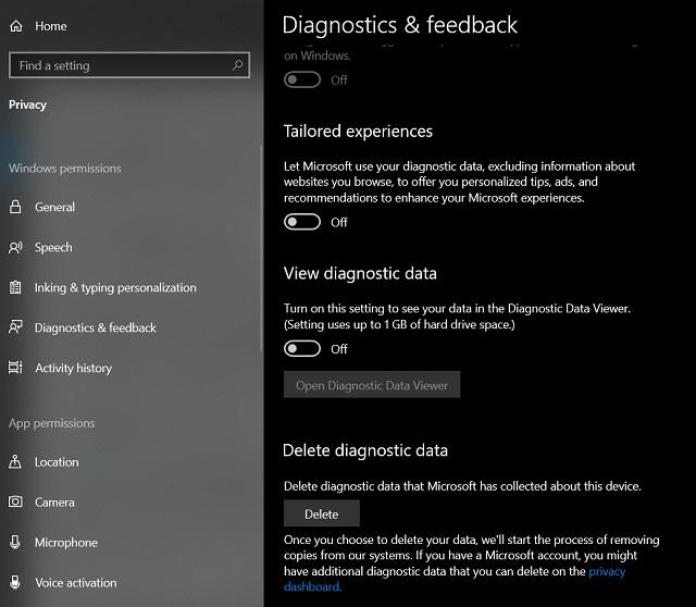 Improve Privacy on Windows 10 1