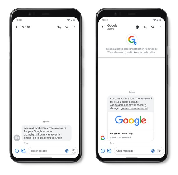Google Brings Verified SMS, Real-Time Spam Protection to its Messages App