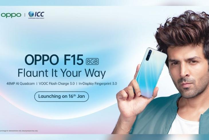 Oppo F15 launch date - january 16