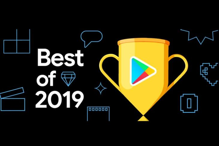 Play Store Best of 2019 website