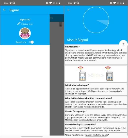 Singal Offline Messenger - Лучшие приложения для обмена сообщениями в автономном режиме