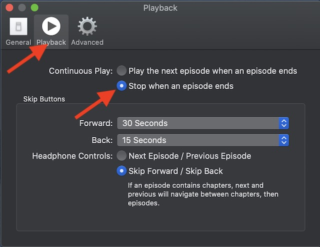 Stop when an episode ends