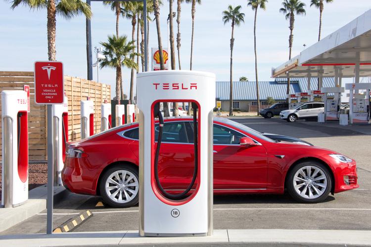 Tesla charging station logo shutterstock website