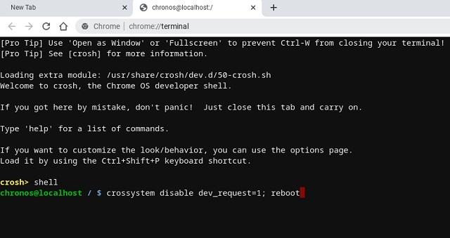 Turn Off Chromebook Developer Mode