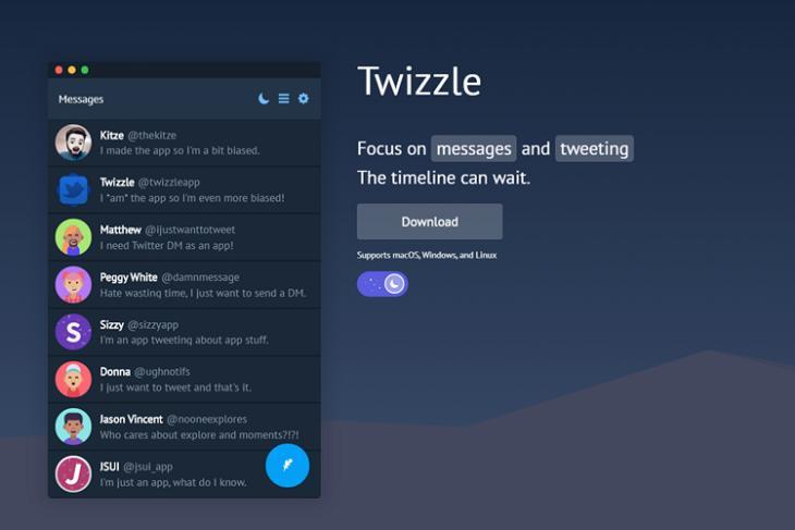 Twizzle Is a Desktop App for Twitter DMs