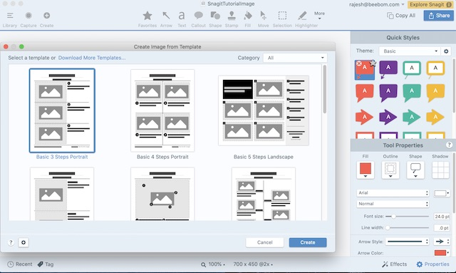 Use Snagit to edit screen recording