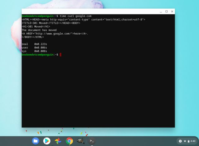 linux support on chromebook