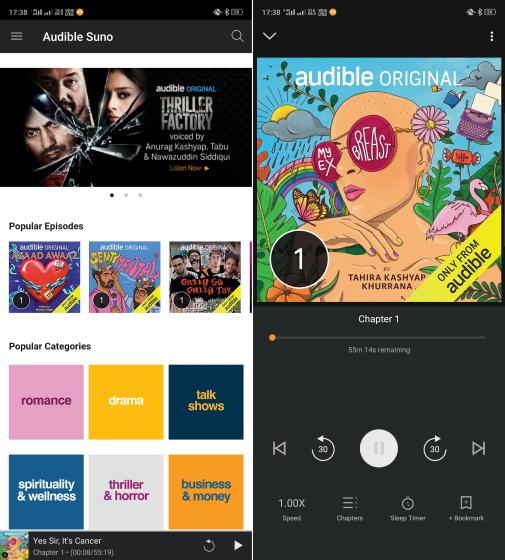 amazon audible suno podcast app