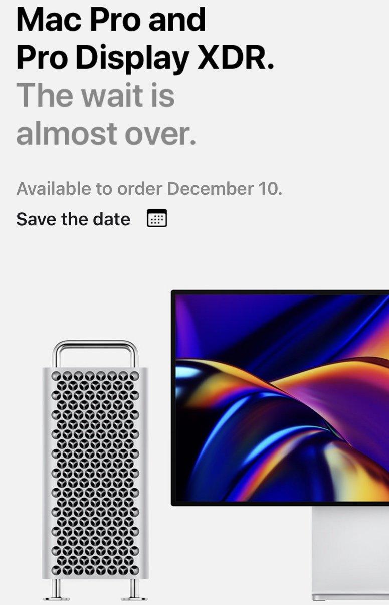 apple mac pro pre-order date