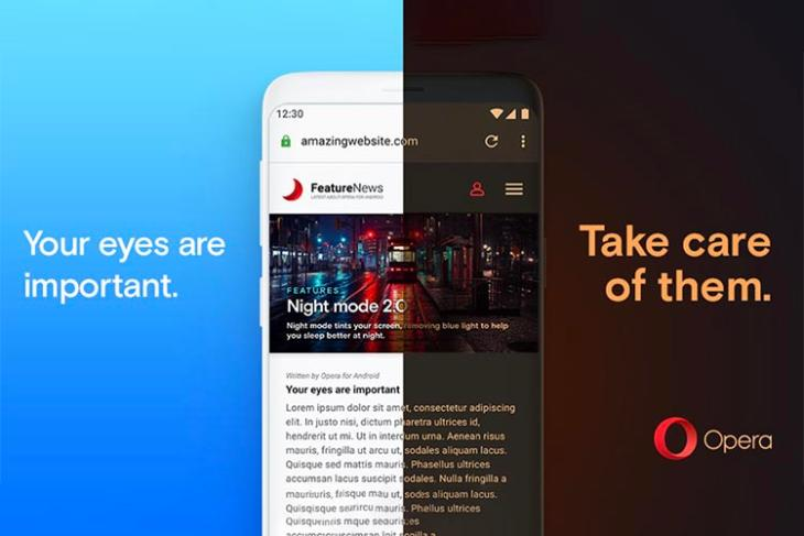opera android 55 update night mode featured