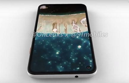 pixel 4a leak punch hole selfie camera