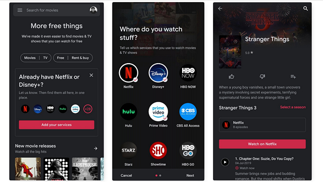 You May Find Netflix and Disney+ Content on Google Play Movies Soon