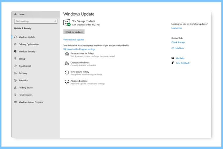 windows 10 optional updates
