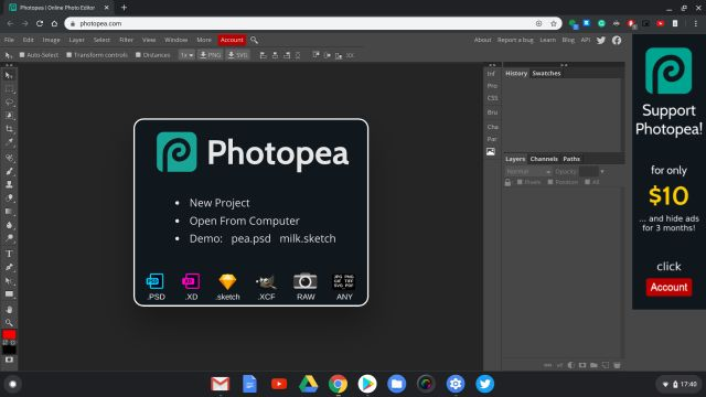 4. Photopea Best Chrome OS Apps
