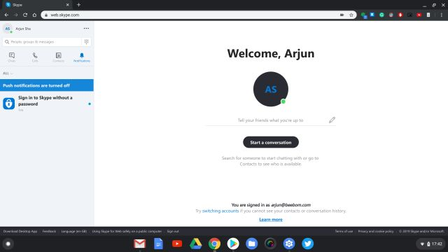 6. Skype Web Best Web Apps for Chrome OS