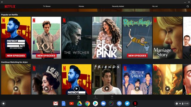8. Netflix Best Android Apps for Chrome OS
