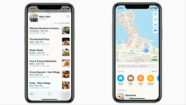 Apple Maps Collections and Favorites