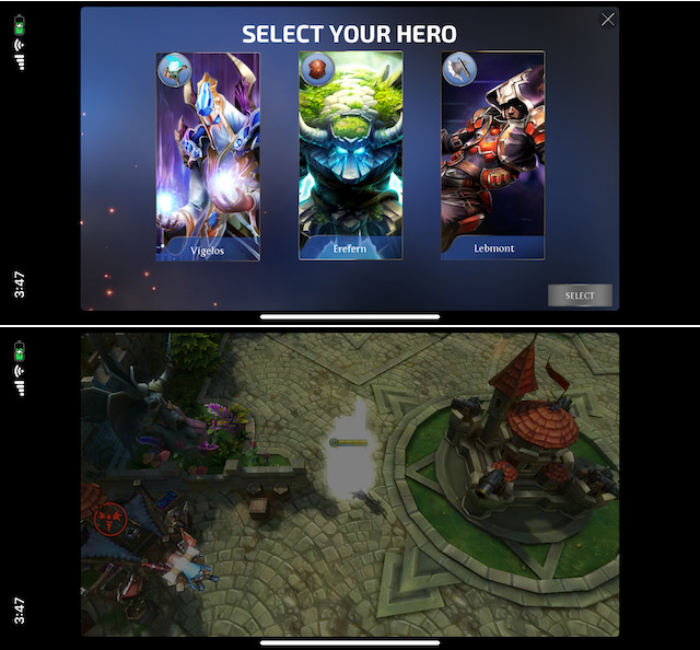"ultimate MOBA game, ""Heroes of Order & Chaos"""