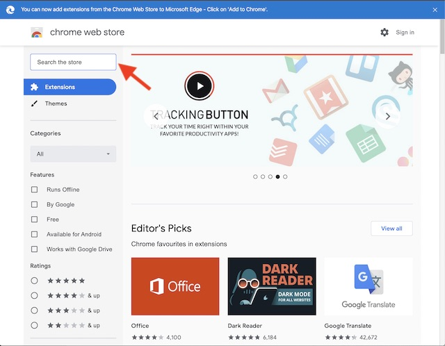 Find a Chrome extension