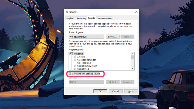 Get Windows Startup Sound Back in Windows 10