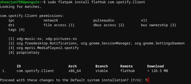GUI Linux app store