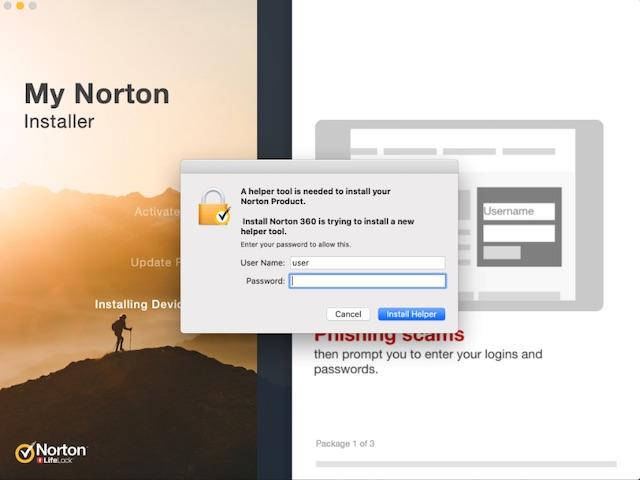 Norton Antivirus software for Mac