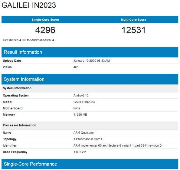 Possible OnePlus 8 Pro with Snapdragon 865, 12GB RAM Spotted on Geekbench