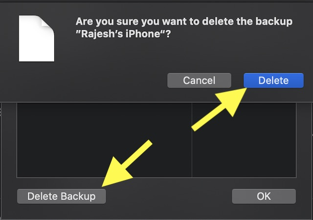Remove iPhone Backup from Mac in macOS Catalina
