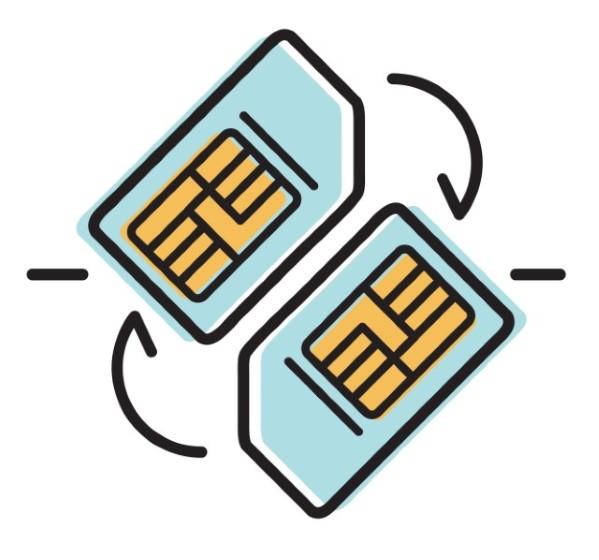 SIM Swap Attack representation