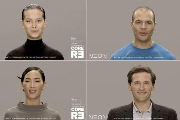 Samsung Neon - artificial humans shown off at CES 2020