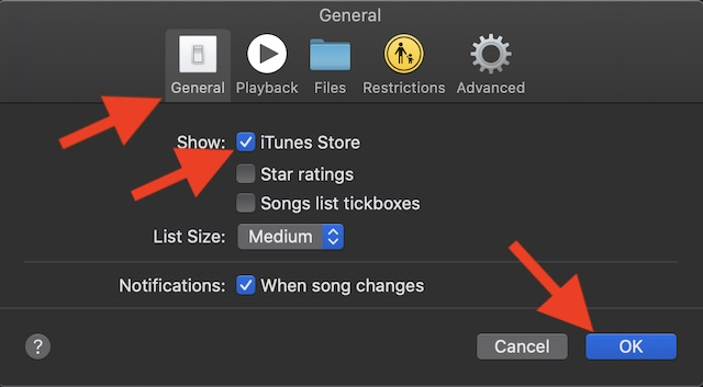 Show iTunes Store on Mac