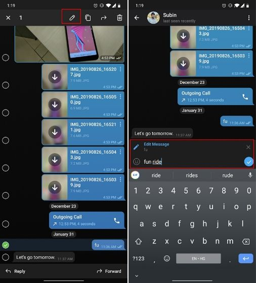 2. Edit Sent Messages Telegram Messenger Tricks