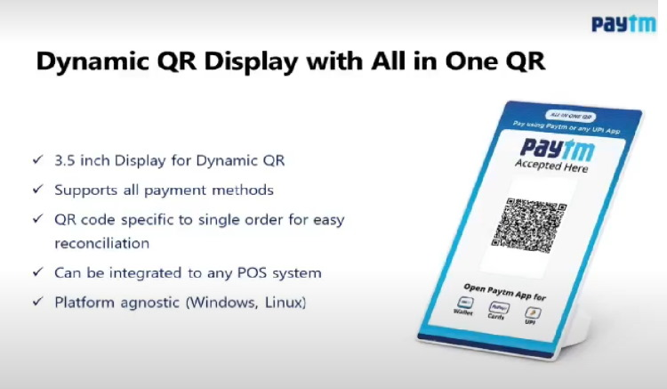 paytm dynamic QR code - new