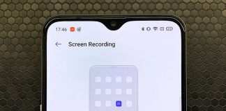 realme ui screen record internal sounds