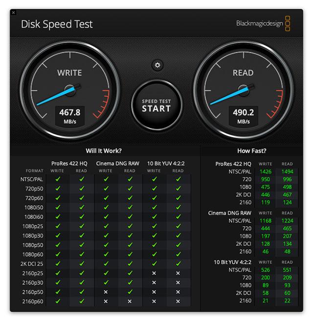 samsung t5 disk speed test