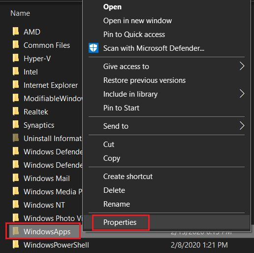 Access WindowsApps Folder on Windows 10