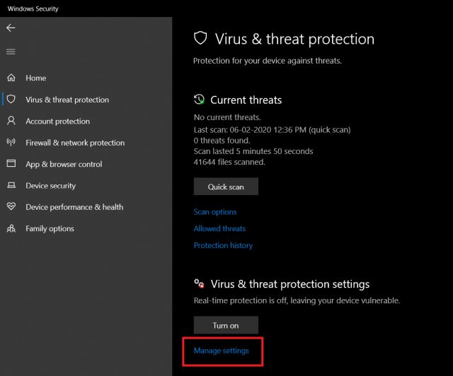 Disable Windows Defender Antivirus on Windows 10 Using Registry