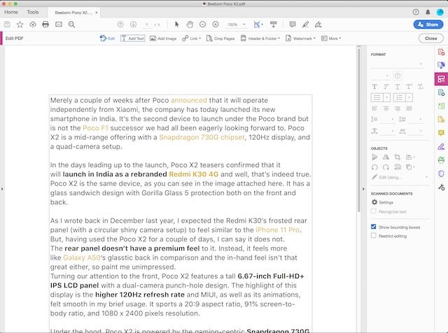 PDF Editor: Adobe Acrobat Reader DC